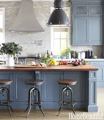 painted blue kitchen cabinets house: beautiful masculine kitchen by parrish chilcoat amp joe lucas featured in house beautiful love the