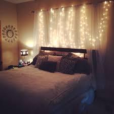 homemade headboard curtains lights weekend project bedroom headboard lighting