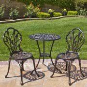 crossman piece outdoor bistro: mainstays crossman  piece outdoor bistro set green seats  walmartcom