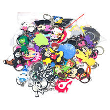 <b>100pcs</b>/<b>lot</b> Mix Style Random PVC Cartoon Key Chain Super Mario ...