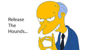 Image result for people bowing before mr burns