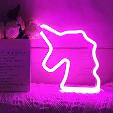 LED Neon Unicorn Night Light Lamp Kids Gifts ... - Amazon.com