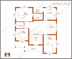 THREE BEDROOMS IN SQUARE FEET KERALA HOUSE PLAN    THREE BEDROOMS IN SQUARE FEET KERALA HOUSE PLAN