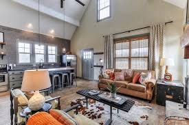 Small Cabin Plan   loft   Small Cabin House Plansvaulted great room and kitchen
