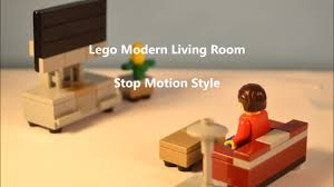 modern lego living room furniture stop motion build build living room furniture