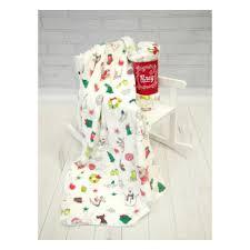 <b>Плед Baby Nice</b> MICRO FLANNEL Снеговики, 100х118 — купить в ...