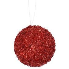 The Holiday Aisle Glitter Drenched <b>Christmas Ball</b> Ornament Color ...