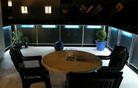 blue light on the balcony balcony and garden lamps lighting modern cool ideas balcony lighting ideas