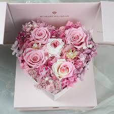 Hibiscus Dream Douyin Same <b>Eternal Flower</b> Gift <b>Box</b> Heart <b>Box</b> ...