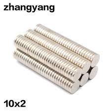 ZHANGYANG <b>50pcs</b>/lot <b>10x2mm magnet</b> 10x2 mm <b>strong</b> Circular ...