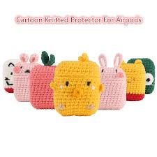 <b>Newest</b> Cartoon Knitted Case For Apple Airpods Accessories ...
