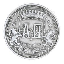 <b>Silver Plated</b> Alloy Commemorative <b>Coins</b> HET Printed <b>Customized</b> ...