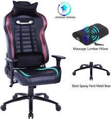 Blue <b>Whale</b> Massage Gaming Office <b>Chair</b> - High Back Reclining ...