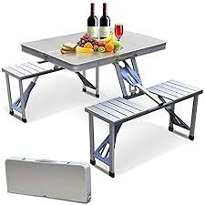 <b>Portable Folding Camping</b> Picnic Table Party Kitchen Outdoor ...