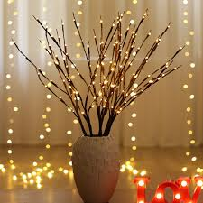 <b>LED</b> Willow <b>Branch Lamp</b> Battery Powered Decorative Lights Tall ...