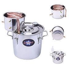 Seeutek <b>3 Gallon 12L</b> Copper Tube Moonshine Still <b>Spirits</b> Water ...