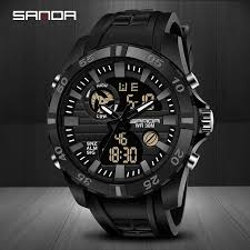 <b>SANDA Top Luxury Brand</b> Sports Men's Fashion Digital Quartz ...