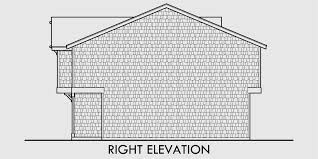 Multifamily House Plans  Reverse Living House Plans  D  House rear elevation view for D  Multifamily house plans  reverse living house plans