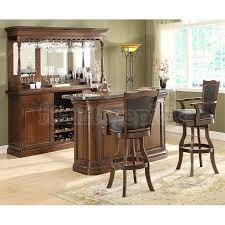 preston home bar set distressed walnut bar furniture sets home