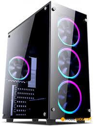 <b>Корпус 1stPlayer Fire Dancing</b>-V2 Color LED без БП Black ...