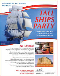 celebrate the tall ships at our tall ship party residences at dockside tall ships party flyer 0