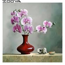 <b>ZOOYA Diamond Embroidery</b> Cross-Stitch Home Decor Orchid Shell ...
