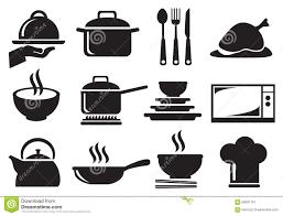 kitchen utensil: kitchen utensil vector icon set kitchen utensil vector icon set black white icons utensils equipment cooking food preparation white