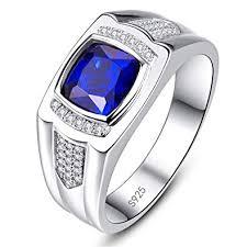 Bonlavie Mens Engagement Ring <b>925 Sterling Silver Vintage</b> ...