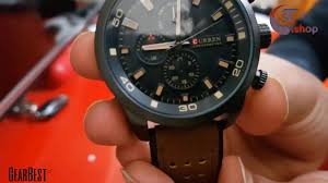 <b>CURREN 8250 Casual Men</b> Quartz Watch BROWN - YouTube