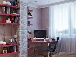 pink black white office black office and workspace fun teenage girl room with pink corner study black middot office