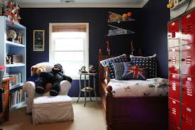 cool boys bedroom interior design idea for tween with black wall and red cabinets bedroom kids bedroom cool bedroom designs
