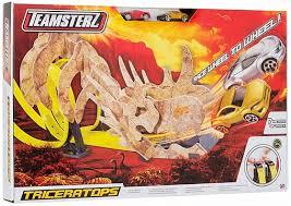 <b>Автотрек</b> двойной <b>HTI Teamsterz</b>: Динозавр <b>Трицератопс</b> с 2 ...