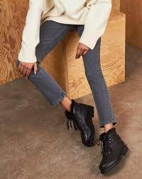 Ботинки с отстрочкой, на шнурках в интернет-магазине ...