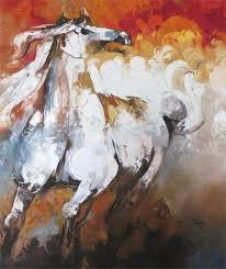 <b>Art Abstract</b> Oil <b>Paintings Horses</b> Figurative Artwork