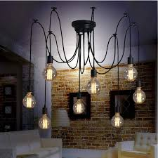 <b>Modern Nordic</b> Art <b>Spider</b> Chandelier Edison Led Bulb Style ...