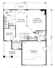 images about House plans on Pinterest   Victorian House    First Floor Plan of Bungalow Craftsman House Plan   Open concept   two story great