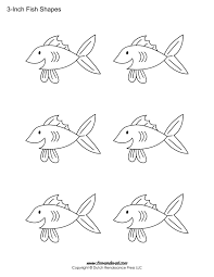 printable fish templates for kids preschool fish shapes printable fish stencils