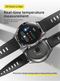 <b>T23 Smart Watch</b> Waterproof <b>Body</b> Temperature Fitness Tracker ...