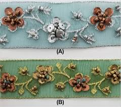 "1"" Organza Embroidered Beaded <b>Sewing</b> Trim - <b>9 Yards</b> - Color ..."