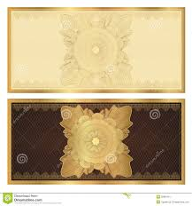 voucher gift certificate template gold pattern royalty voucher gift certificate template gold pattern royalty stock photo