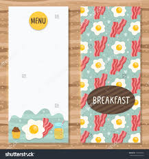 brochure template breakfast menu egg bacon stock vector 196707002 brochure template for breakfast menu egg bacon cupcake and juice cute flyer
