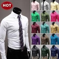 BUY 3 Express FREE SHIPPING! Men Slim Fit Shirts 2014 ... - Qoo10