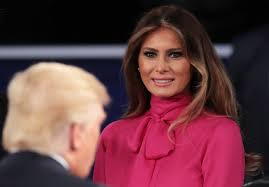 Wow was Melania Trumps blouse at the debate actually subtle. Wow was Melania Trumps blouse at the debate actually subtle shade at husband Donald