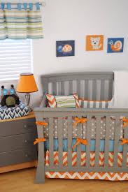 owl nursery for baby boy with orange chevron horizontal stripes and artwork by judith raye baby furniture rustic entertaining modern baby