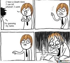 Death Note by wahranelo - Meme Center via Relatably.com