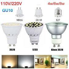 <b>E27</b> GU10 MR16 Led Spotlight Bulb 3528 5733 Warm Cool White ...