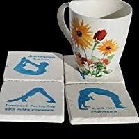 Amazon.com: <b>Boho</b> Coasters - Set of Four <b>Stone</b> Coasters with ...