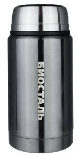 <b>Термос</b> для еды Biostal (0,75 литра), с <b>ложкой</b>, серый купить в ...