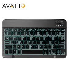AVATTO Russian/English Ultra thin 7 Color LED Backlit <b>Wireless</b> ...