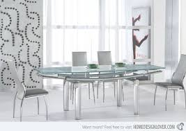 room modern camille glass: serenity ultra modern glass and tube dining room